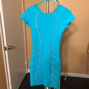 Bebe turquoise embellished dress